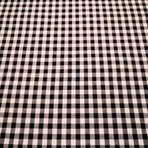 Vichy Negro cuadro grande